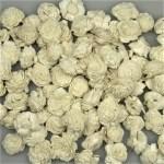 Capete flori Ming alb 2cm set 2