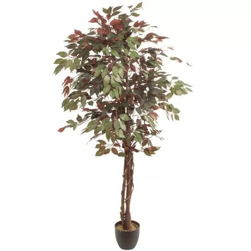 Ficus artificial verde burgund var2