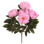 bujori artificiali roz h45