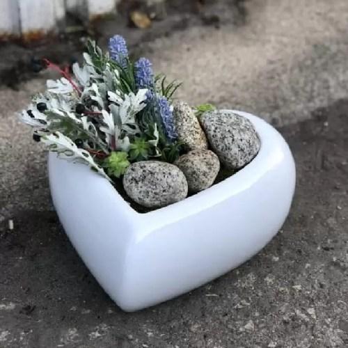 Ghiveci ceramic Hart Alb glossy pic