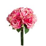 Buchet trandafiri x 11 roz inchis 36cm