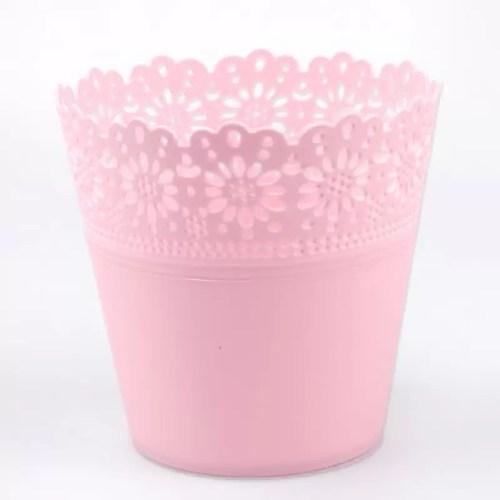 Set ghiveci Carina x5 roz pal d7h11