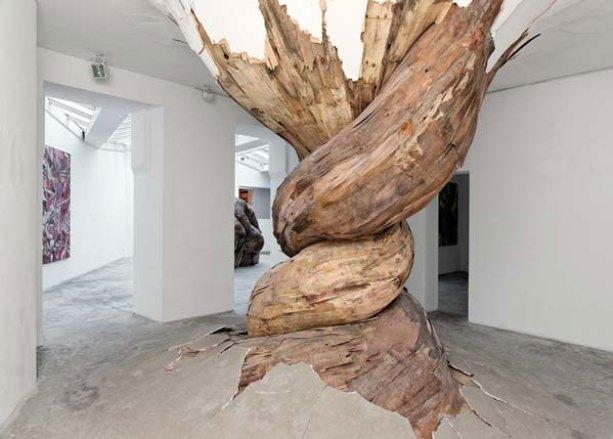 Desnatureza | 2011 | Galerie Vallois, Paris-France plywood | 3,1 x 3,8 x 3,6m | photo: Aurélien Mole