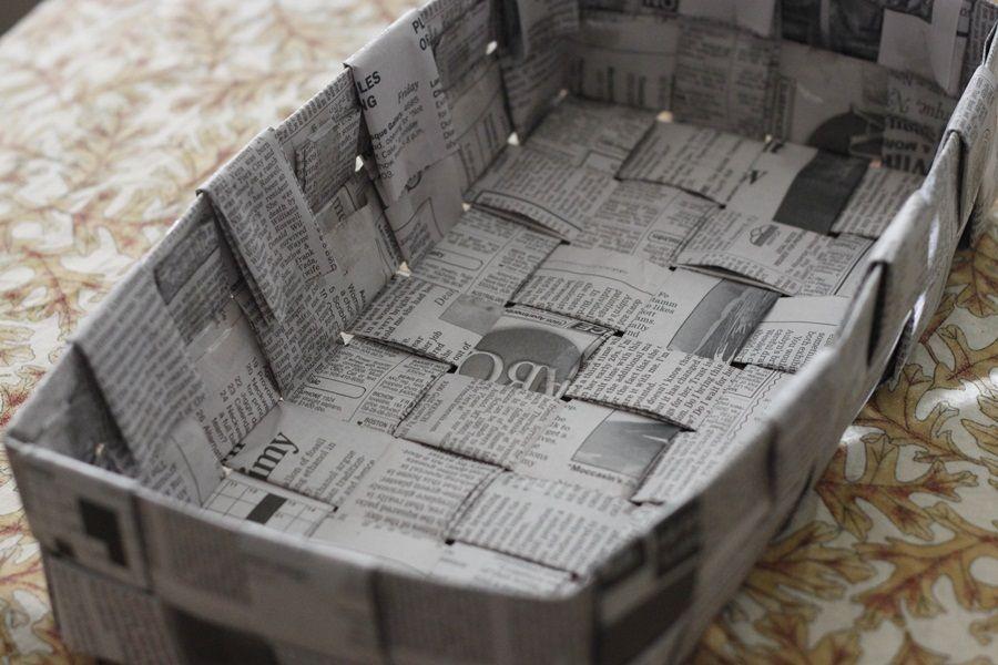 Membuat Kotak Serba Guna Dari Kertas Koran
