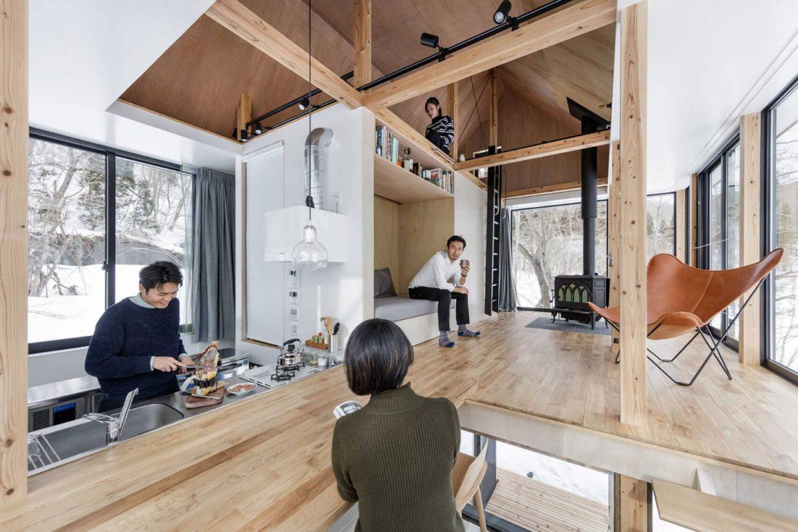 Rumah Pondok Dengan Desain Unik Pecinta Alam