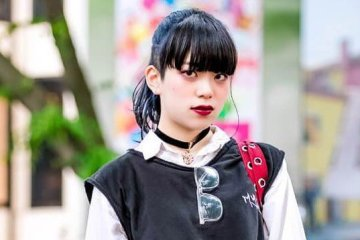 Gaya Monokrom Hitam Oleh Ryoka Dalam Harajuku Fashion Jepang