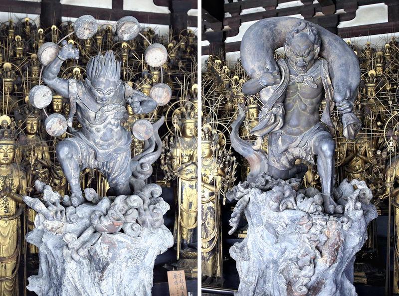 Relokasi Fujin Dewa Angin Dan Raijin Dewa Petir Di Sanjusangendo Pavilion Kyoto