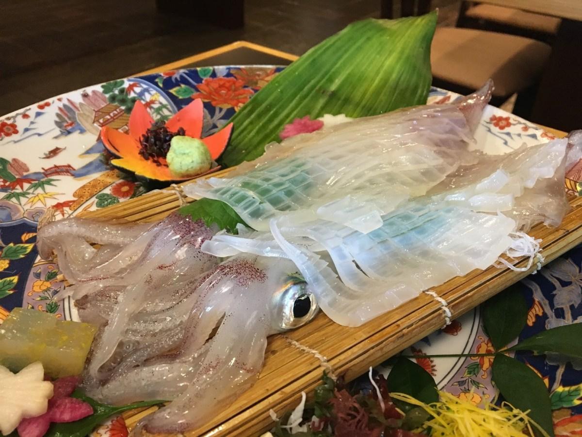 Ika Ikizukuri Kuliner Jepang