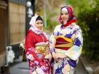 Kini Wisatawan Wanita Muslim Dapat Berbelanja Hijab Dengan Pola Wagara Yang Cocok Dengan Kimono Di Kota Kyoto !