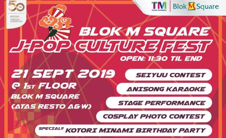 Hadiri Festival J-Pop Culture Fest Di Kawasan Blok M Square Jakarta