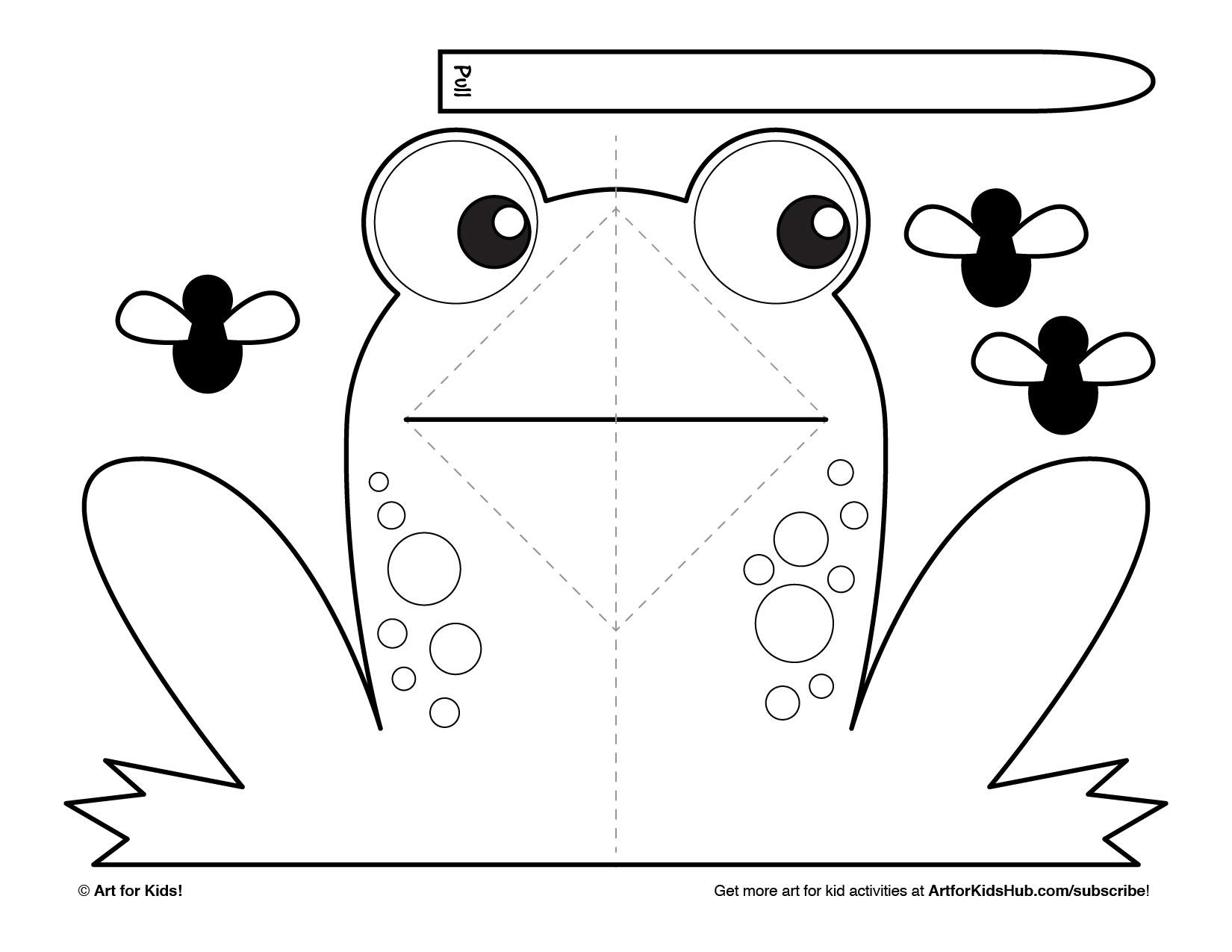 Easy Pop Up Frog