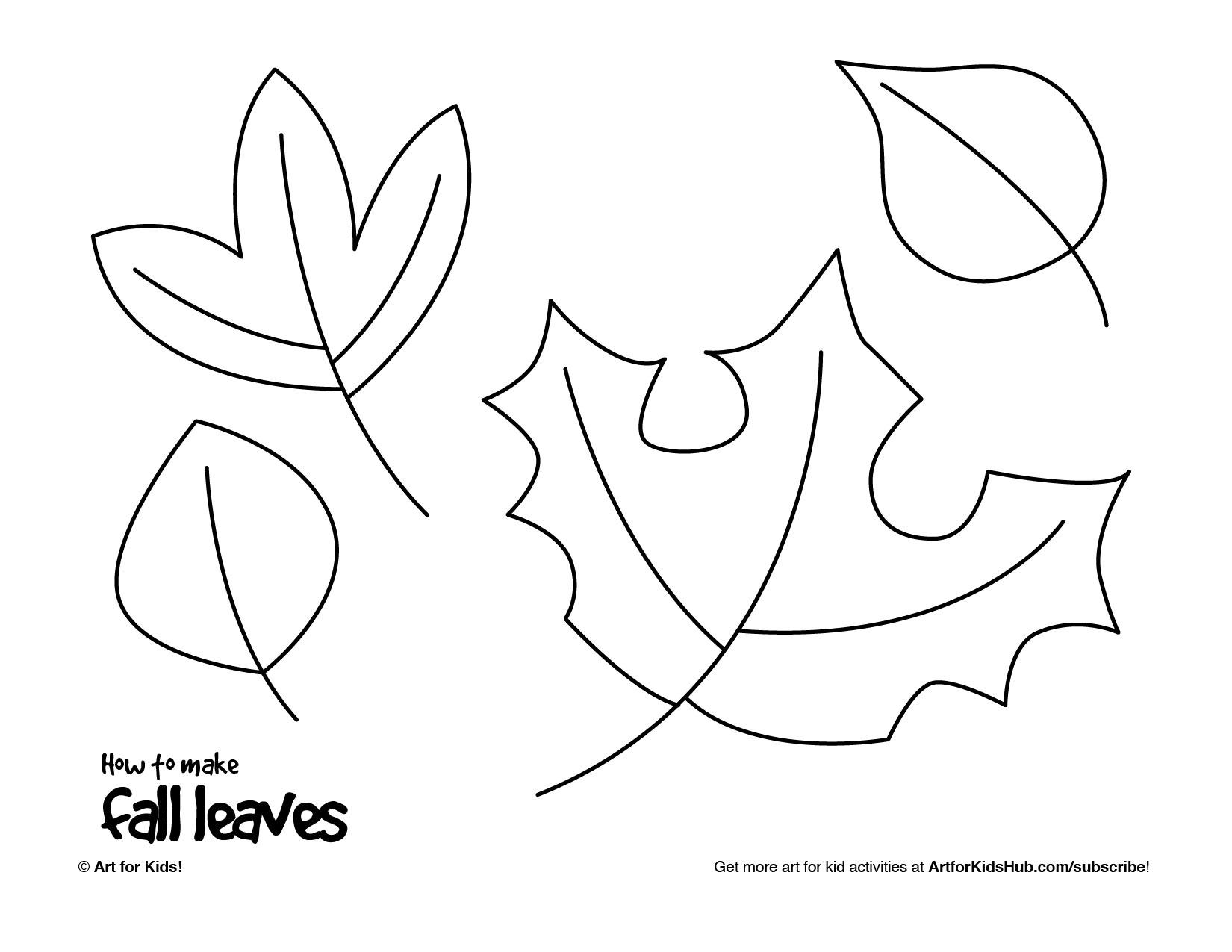 Worksheet Drawing Leaves