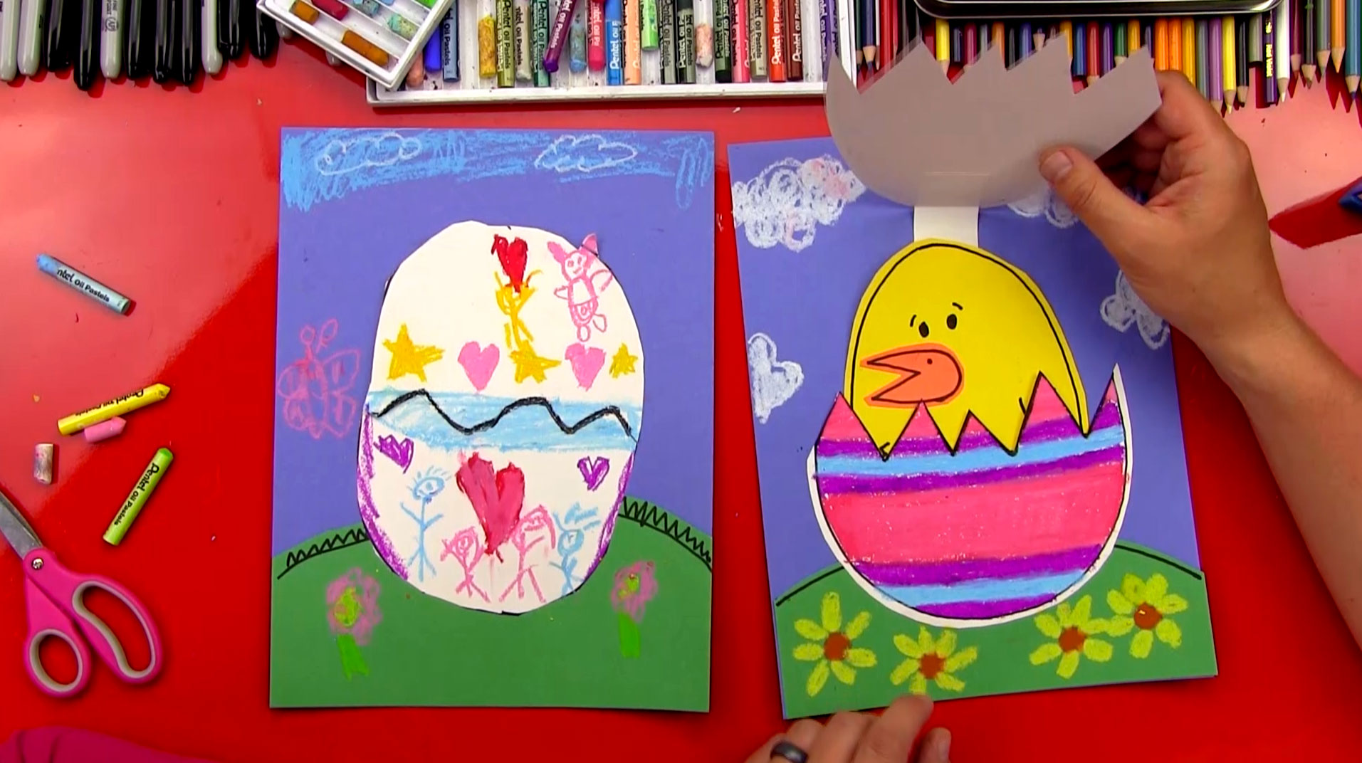 Easter Egg And Baby Chick Cutout Art For Kids Hub
