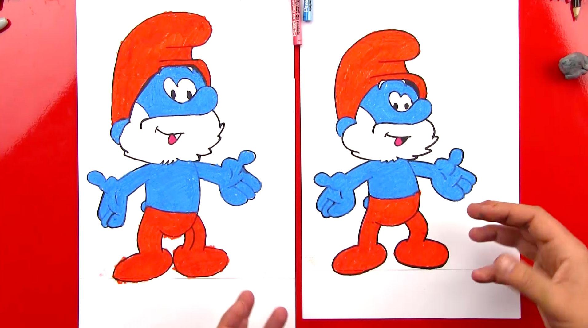 How To Draw Papa Smurf