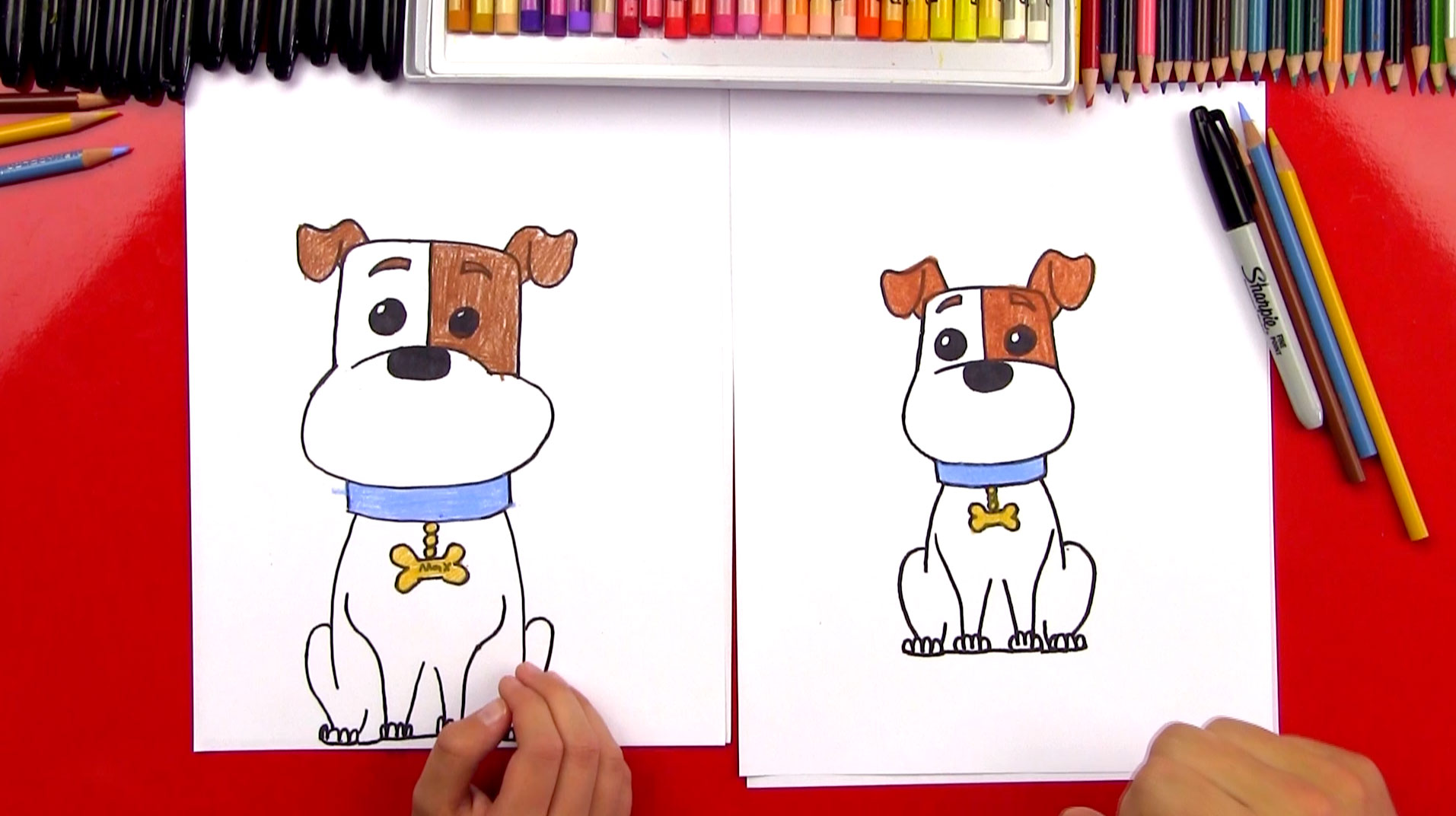 Cute Christmas Dog Coloring Pages