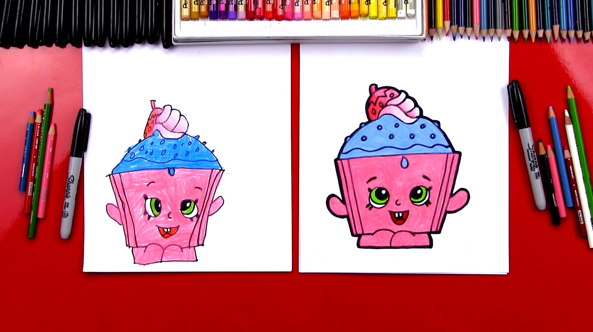 How To Draw Cupcake Chic Shopkins Art For Kids Hub