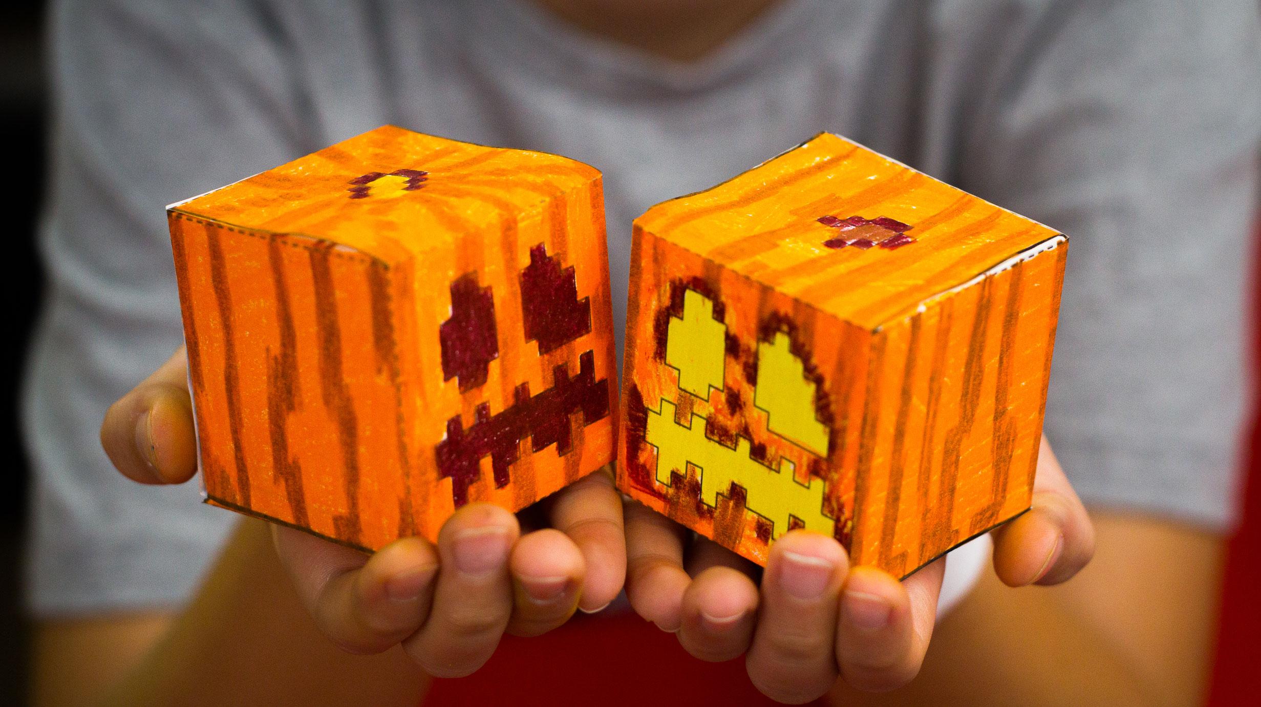 How To Make A Minecraft Pumpkin Cutout Art For Kids Hub