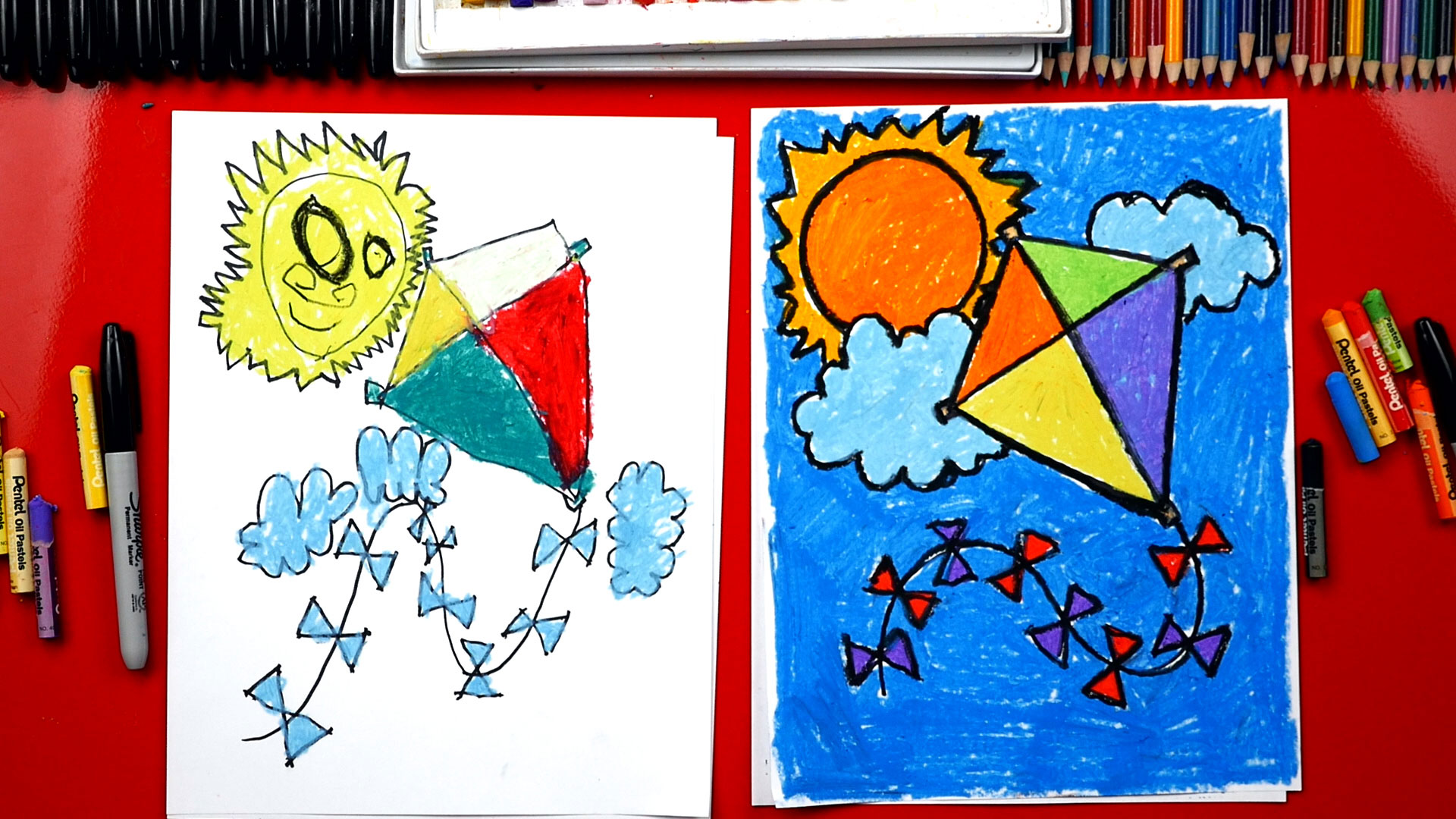 See more ideas about easy drawings, drawings, easy drawings for kids. How To Draw A Kite - Art For Kids Hub