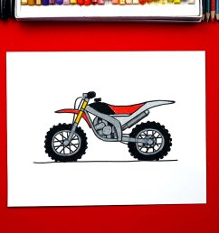 how to draw a dirt bike [ 1920 x 1080 Pixel ]