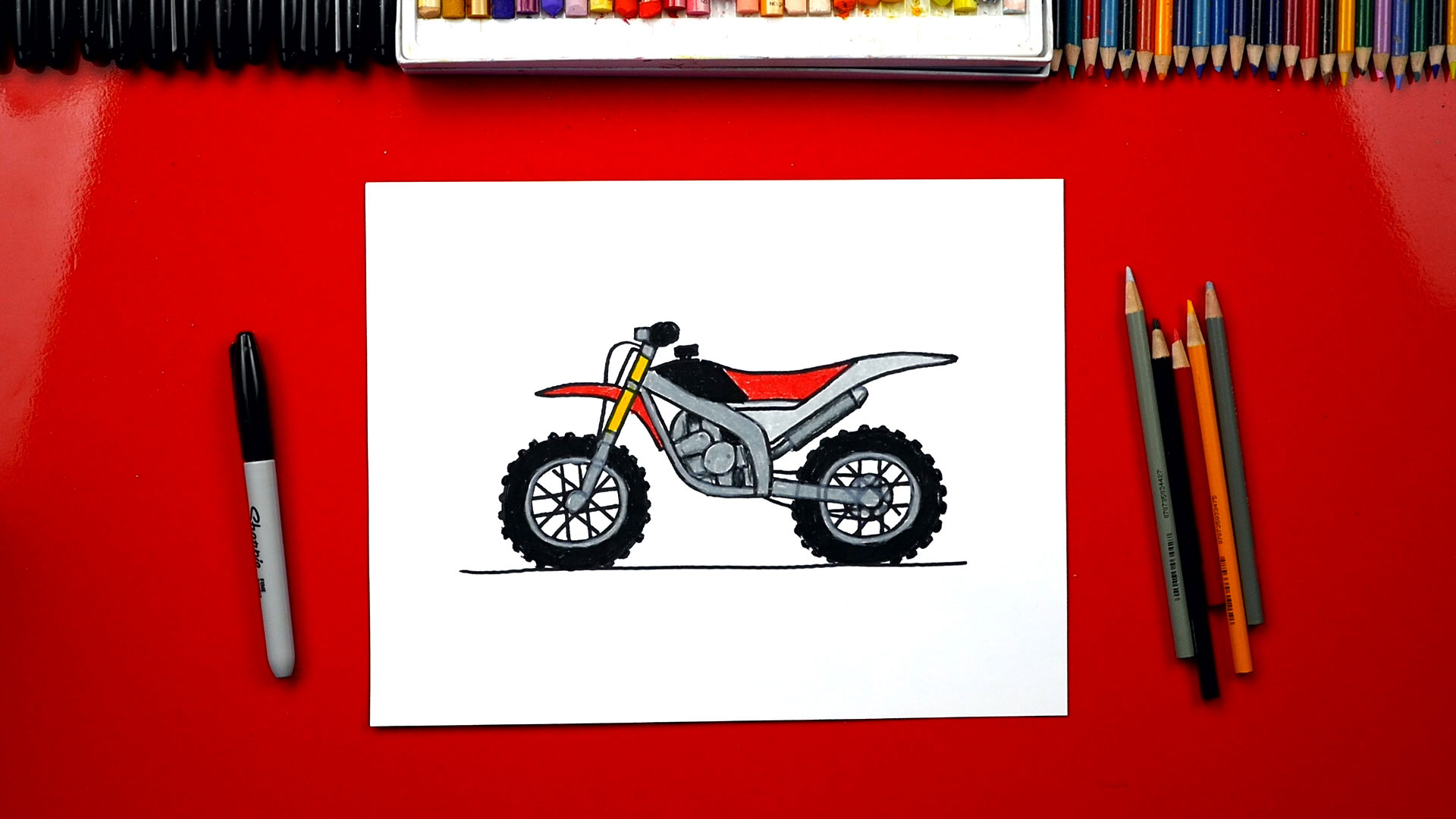 hight resolution of how to draw a dirt bike