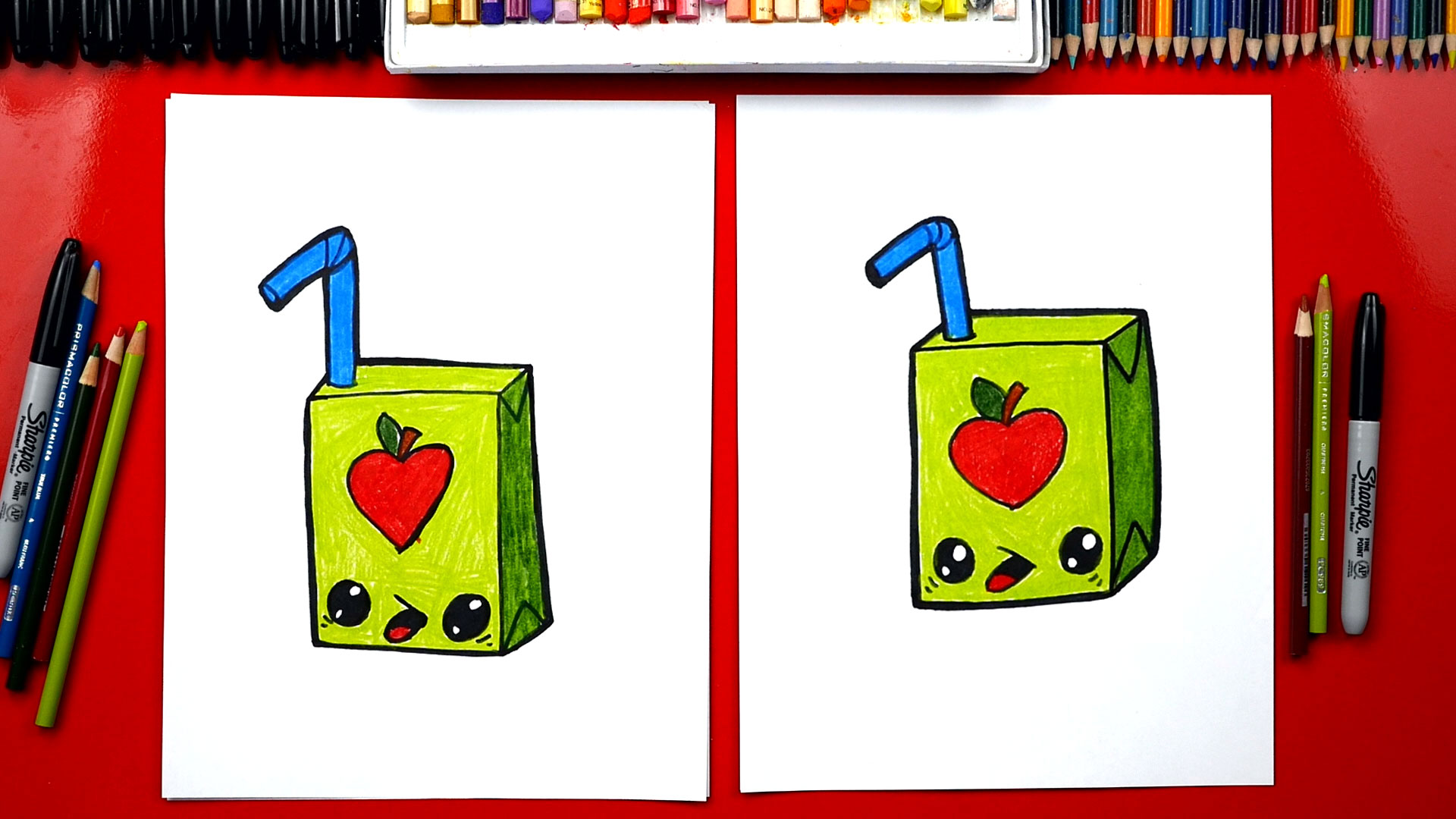 How To Draw A Funny Juice Box Art For Kids Hub
