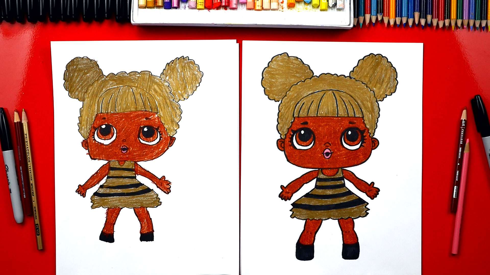 Another drawing game is exquisite corpse. How To Draw Queen Bee LOL Surprise - Art For Kids Hub