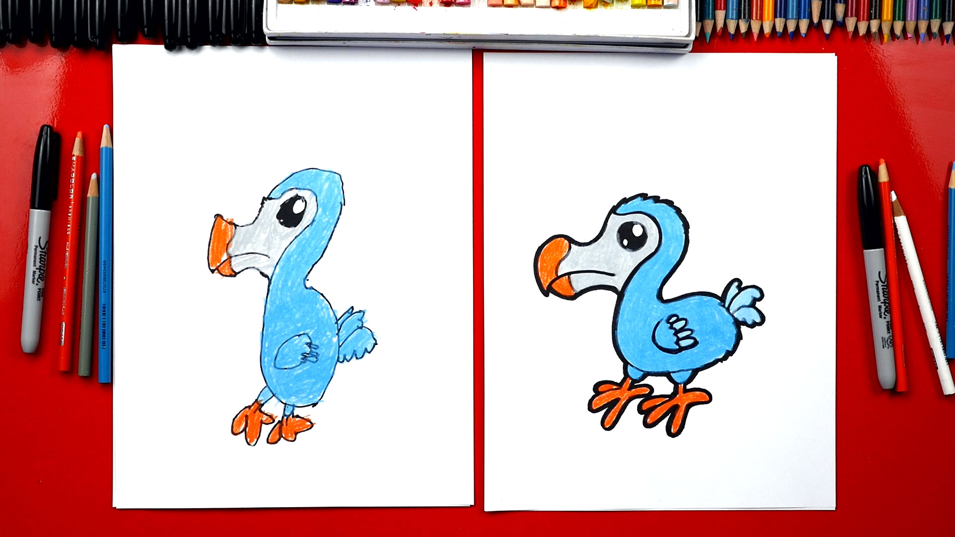 Boy with crayons line drawing mother kids drawing home child drawing with a piece of chalk mother and child draw mom health living family japan outside chalk kid drawing with chalk children artwork design. How To Draw A Dodo Bird - Art For Kids Hub