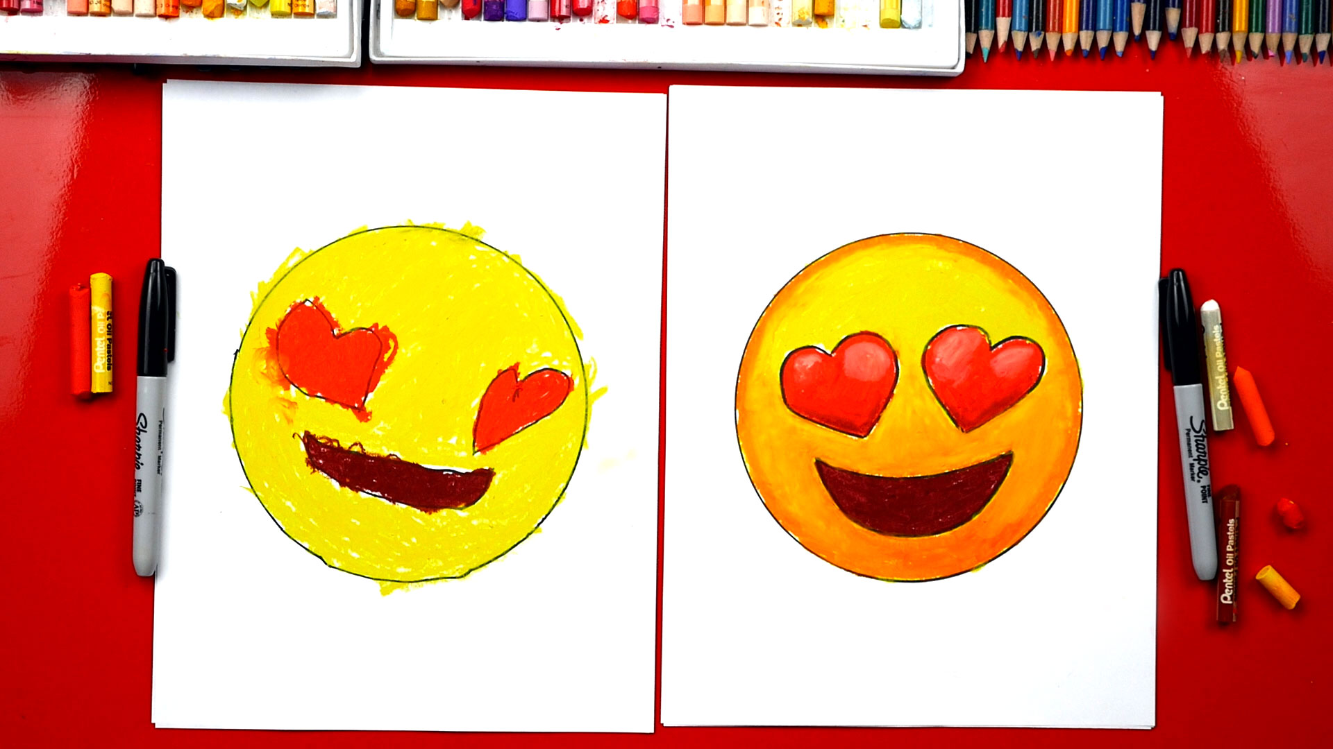08/08/2019· how to draw a family picture very easy step by step. How To Draw Heart Eyes Emoji - Art For Kids Hub