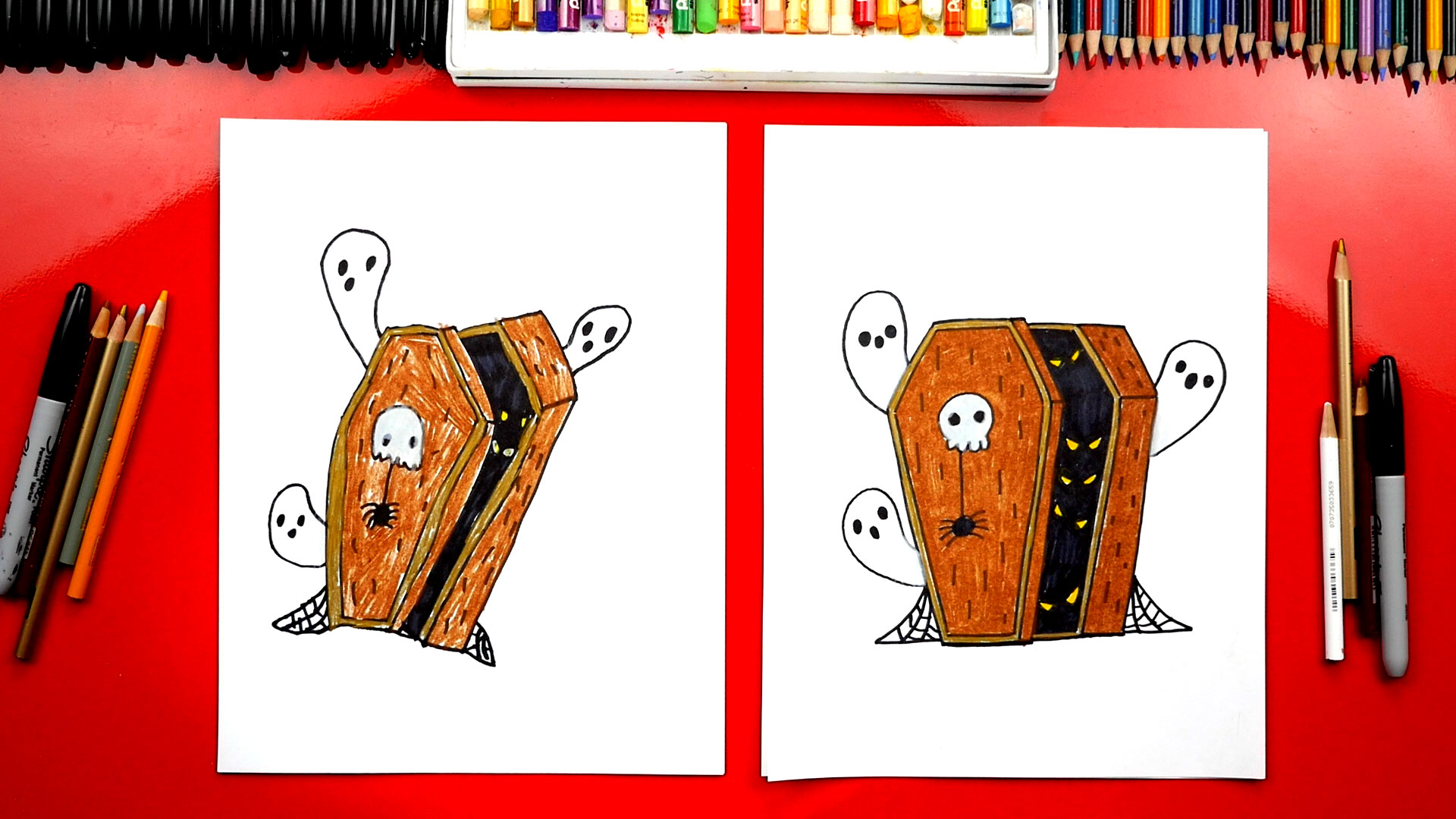 How To Draw A Coffin For Halloween Art For Kids Hub