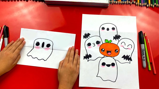 How To Draw A Ghost Stack (Folding Surprise) - Art For