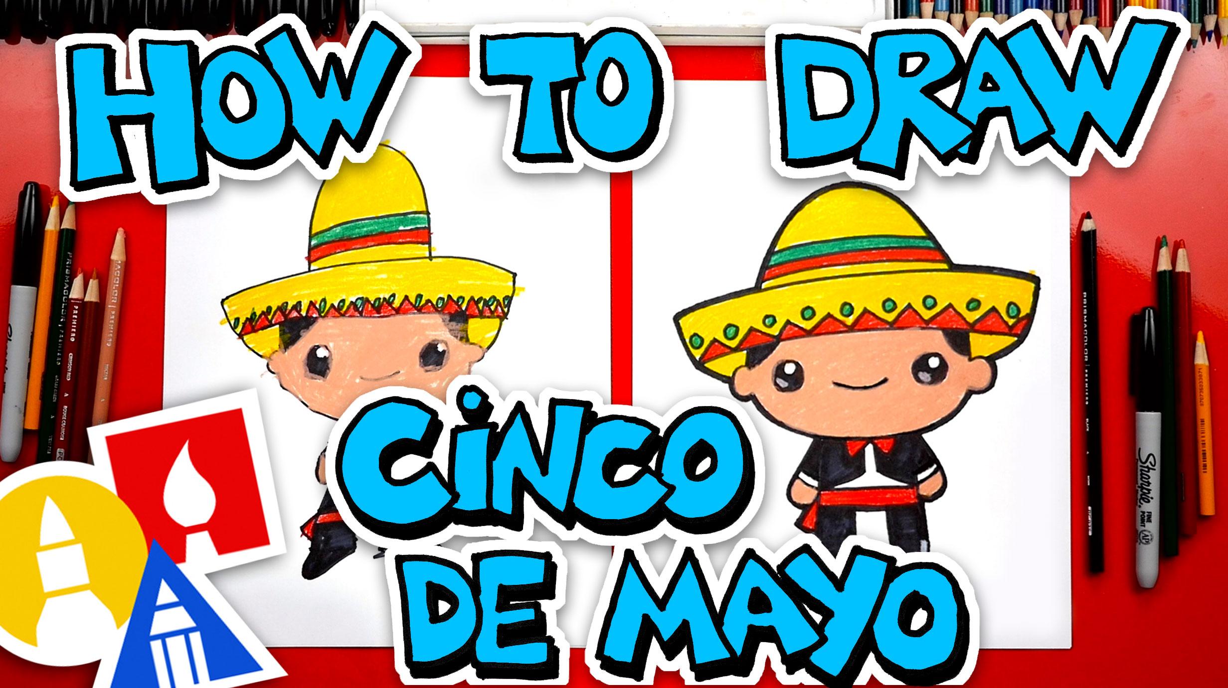 How To Draw Cinco De Mayo Boy
