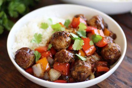 meatballs in black bean sauce 7