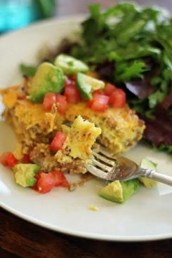 sausage frittata with salad