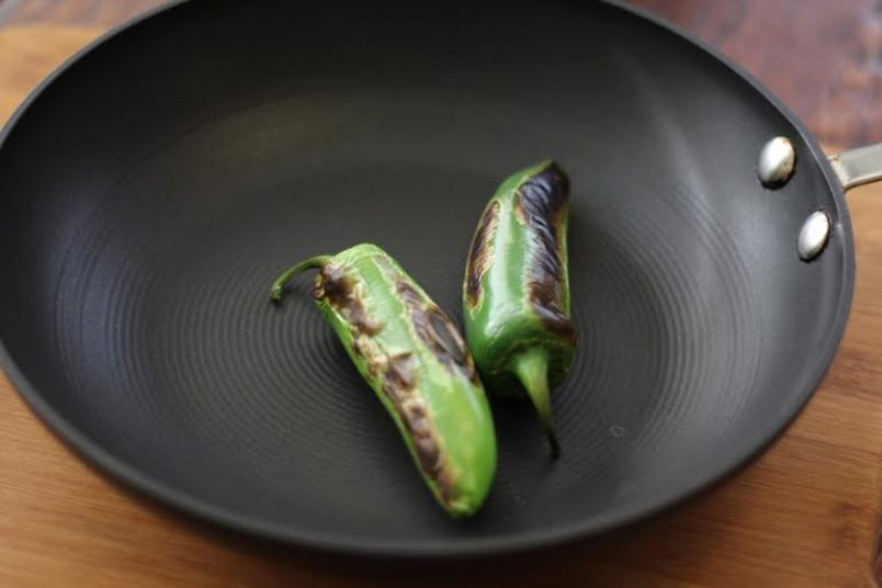 How to Pan Roast Peppers - Dry Roast in a Saute Pan | artfuldishes.com