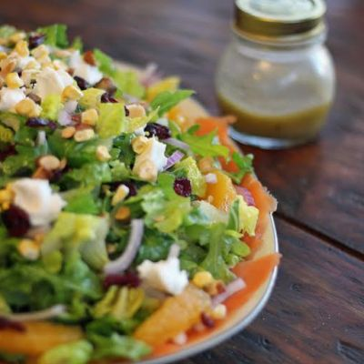 Orange Pistachio Salad with Smoked Salmon and Arugula