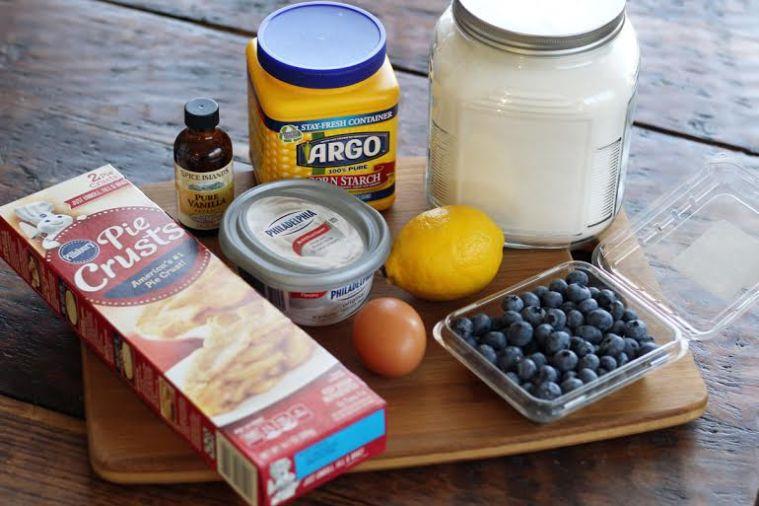 Blueberry Cheesecake Crostada Ingredients | www.artfuldishes.com