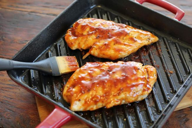 Grill Pan Barbecued Chicken