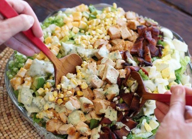 Barbecued Chicken Cobb Salad
