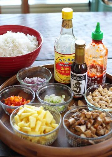 Teriyaki Chicken Fried Rice Ingredients