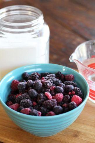 Mixed Berry Sorbet Ingredients