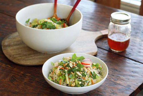Rice Noodle Salad with Fresh Herbs