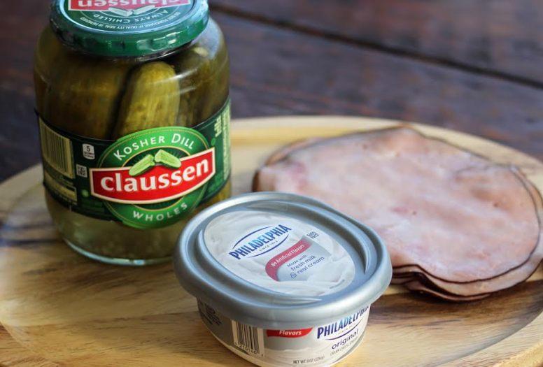 Ham and Pickle Roll Ingredients | www.artfuldishes.com