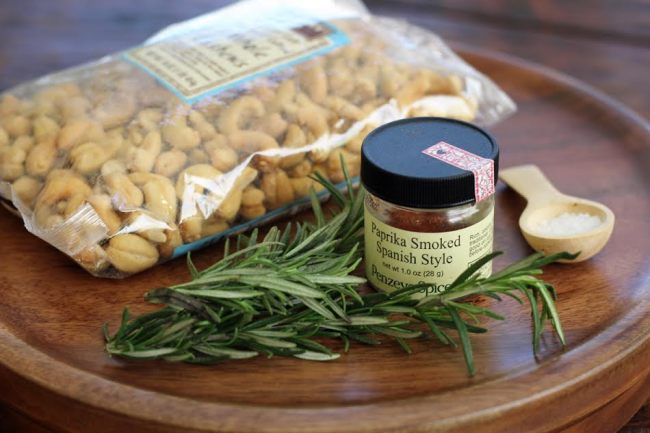 Ingredients for Smokey Rosemary Cashews Artful Dishes