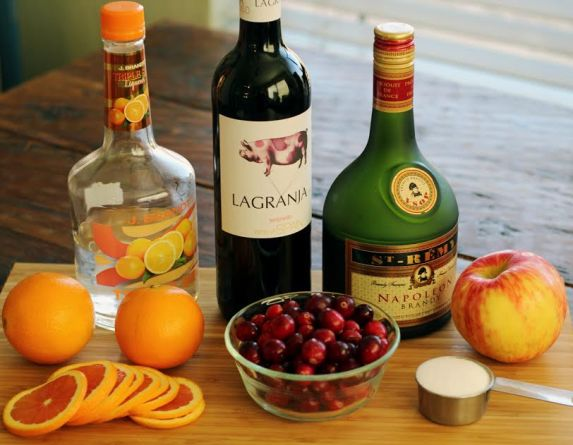 Festive Red Wine Sangria Ingredients Artful Dishes