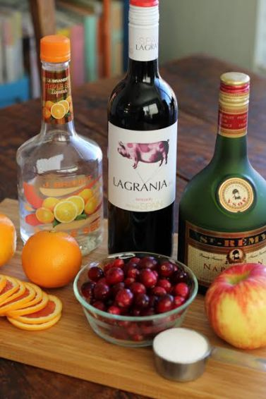Ingredients for Festive Red Wine Sangria Artful Dishes
