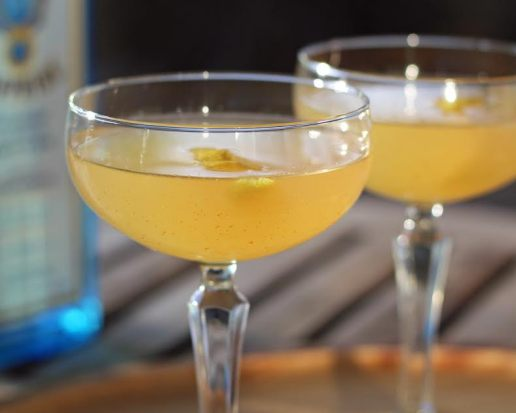 The Spicy Bee's Knees Vintage Gin Cocktail Artful Dishes