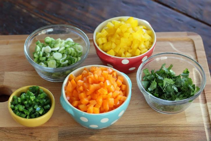 The Chopped Ingredients for Cowboy Caviar Artful Dishes