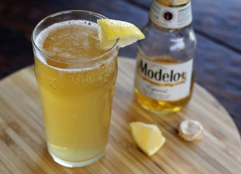 A Refreshing Tequila Shandy Beer Cocktail Mexican Beer Hard Lemonade | www.artfuldishes.com