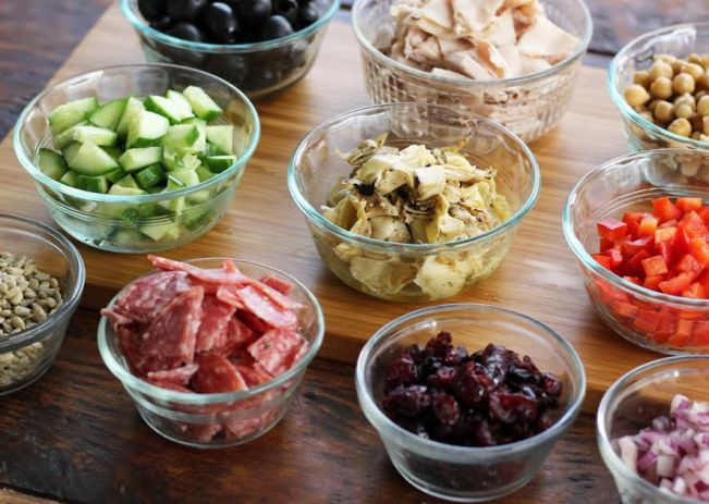 Meal Planning - Italian Chopped Salad Ingredients