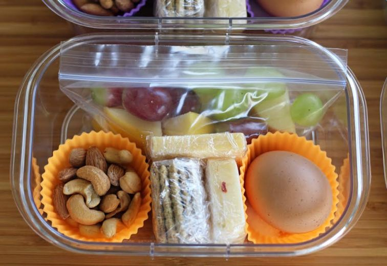 Cheese and Crackers Wrapped Tightly for Protein Box Lunches | artfuldishes.com